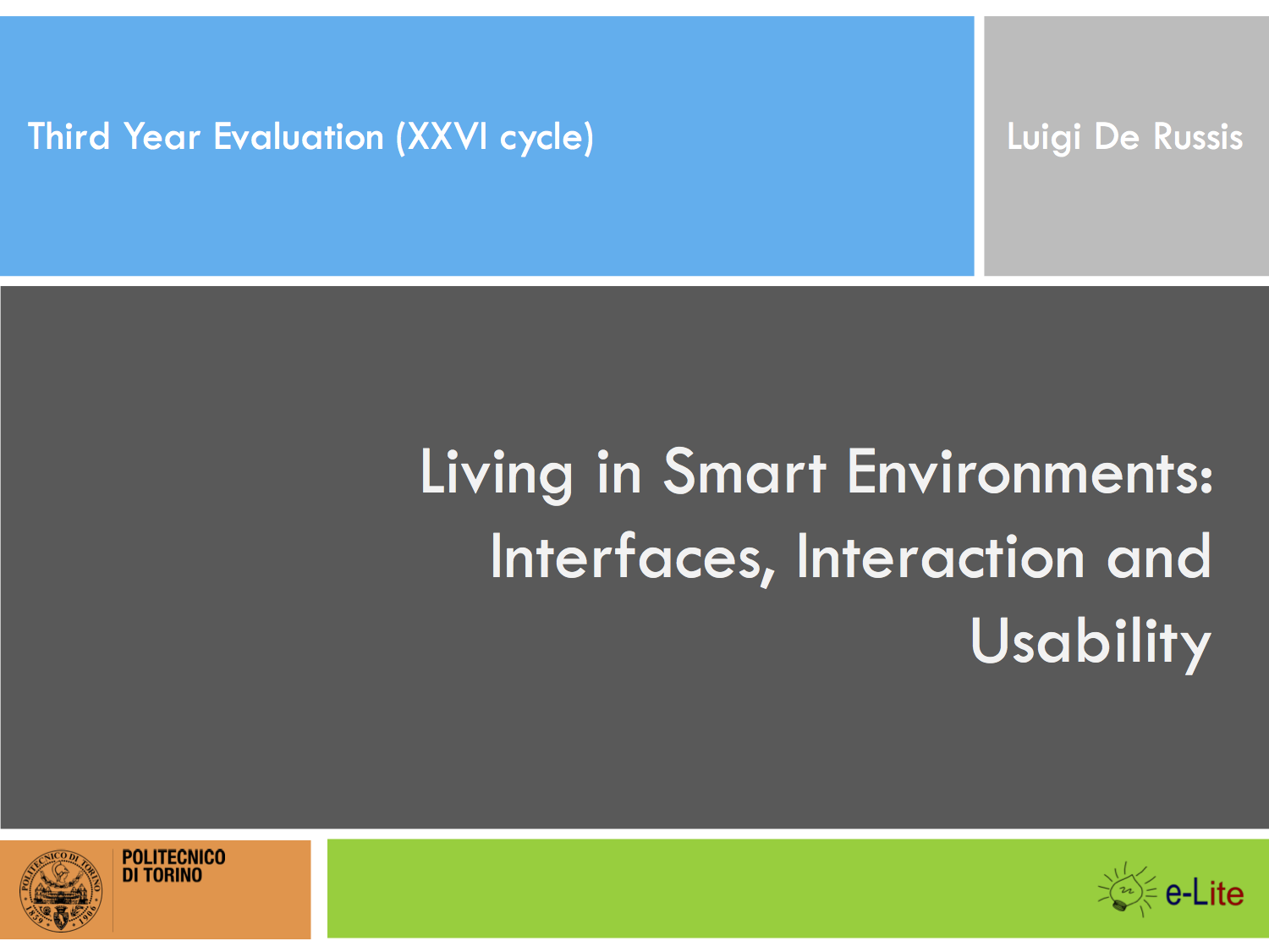 Interacting with Smart Environments