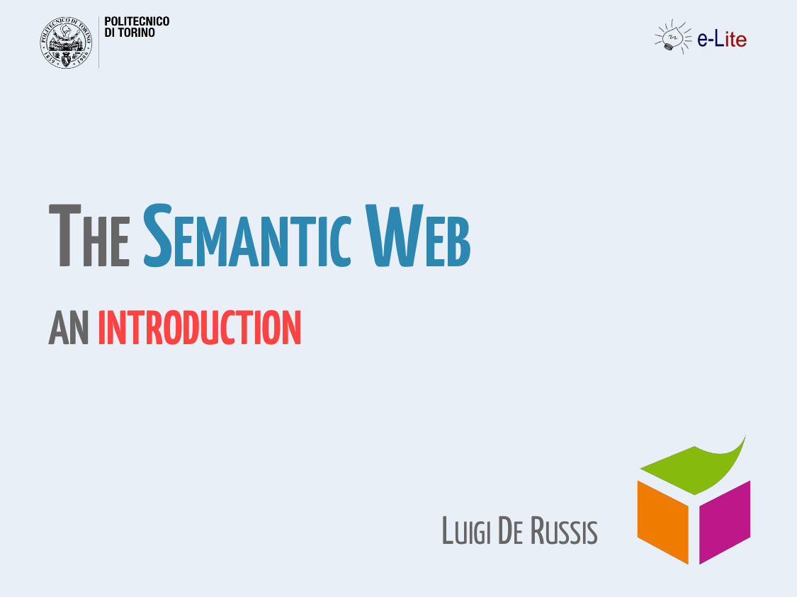Seminar: Introduction to the Semantic Web